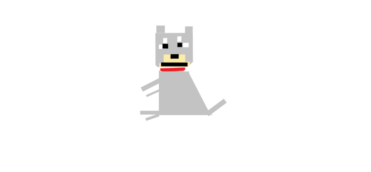 Minecraft Tamed Wolf Paint 3D