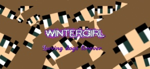 WinterWallpaper- WinterGirl!!! Loving dogs forever!!!